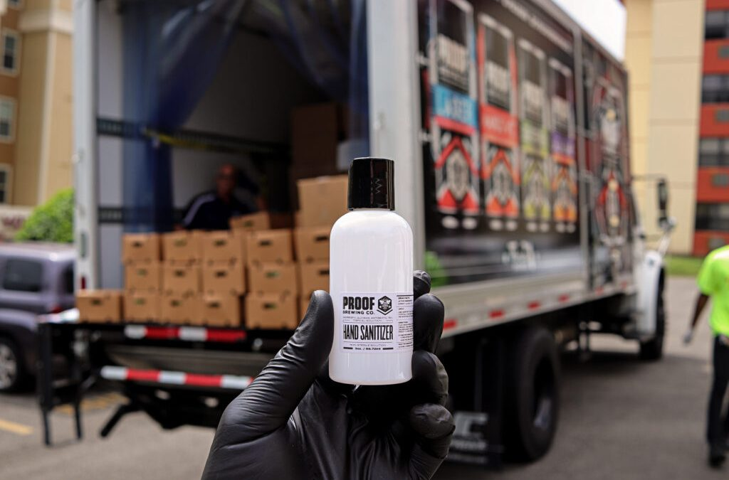 Tri-Eagle Sales partners with local craft brewery Proof Brewing Company and Second Harvest of the Big Bend to provide food and hand sanitizer to senior citizens